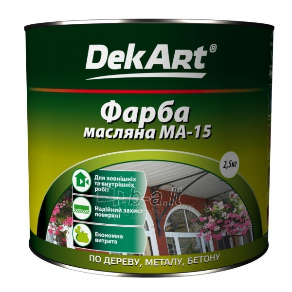 Aliejiniai dažai MA-15 DekART žali 2,5 kg Paveikslėlis 1 iš 1 236505000036