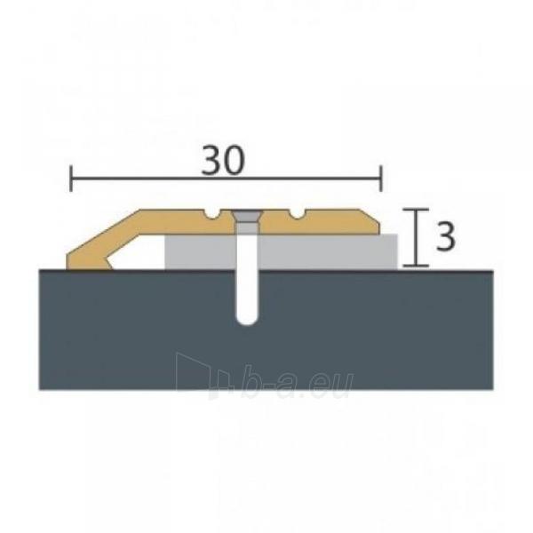 Alumīnija profils P1 Maxi 93 cm zelta krāsa Paveikslėlis 1 iš 1 237712000604