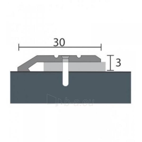 Aliuminio profilis P1 MAXI 93 cm sidabro spalvos Paveikslėlis 1 iš 1 237712000605