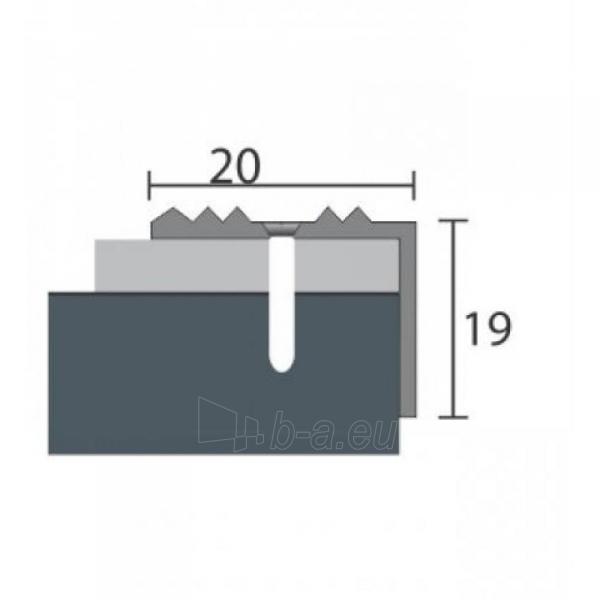 Aliuminio profilis P30 MAXI 93 cm sidabro spalvos Paveikslėlis 1 iš 1 237712000617