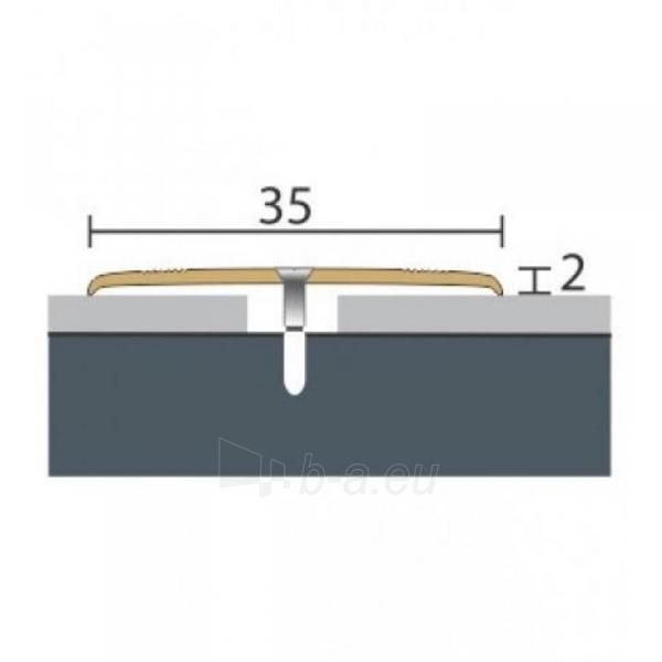 Aliuminio profilis P8 Maxi 93 cm aukso spalvos Paveikslėlis 1 iš 1 237712000623