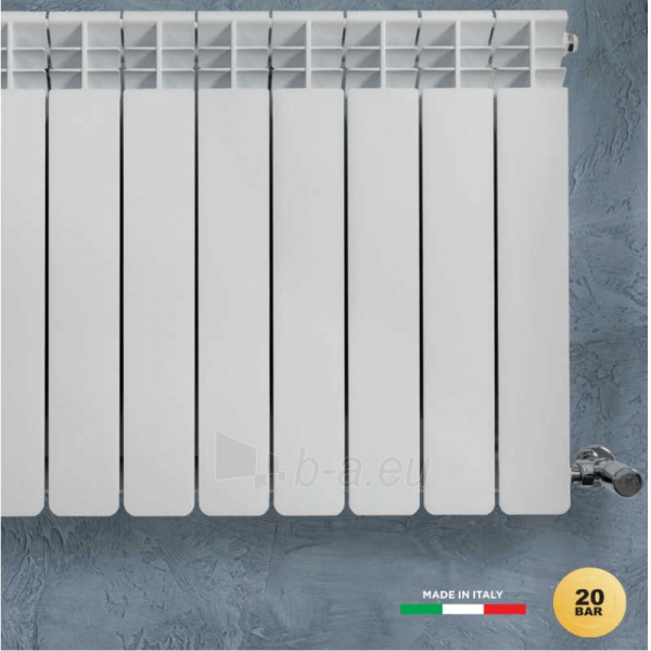 Aliuminio radiatorius HELYOS EVO 500, RAL 9016 Paveikslėlis 2 iš 3 310820254291
