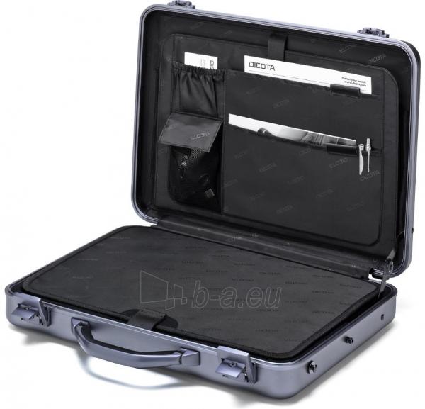 Aliuminis lagaminas Dicota Alu Briefcase skirtas 15-17.3 neš. kompiuteriui Paveikslėlis 3 iš 4 250256202856