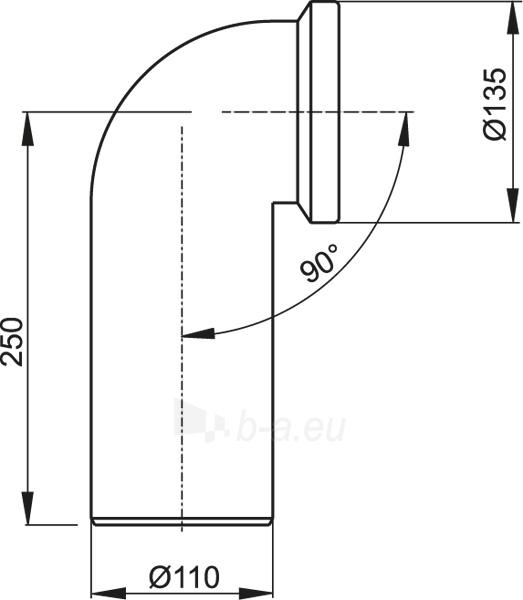Alkūnė ALCAPLAST WC 90 A90-90 Paveikslėlis 2 iš 2 270521000154