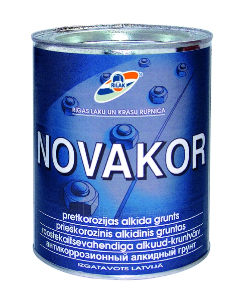 Antikorozinis alkidinis gruntas Novakor 2,7 l. Paveikslėlis 1 iš 1 236580000382