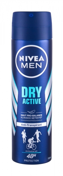 Antiperspirantas Nivea Men Dry Active 48h 150ml Paveikslėlis 1 iš 1 310820212928