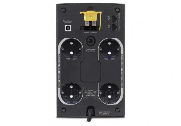 APC Back-UPS 950VA, 230V, AVR, Schuko Paveikslėlis 2 iš 2 250254301342