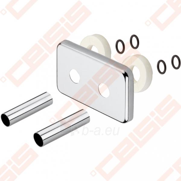 Apdaila (spalva: blizgus chromas) dviem vamzdžiams (5 cm atstumu) CARLO POLETTI A547; 1/2 x 18; L=160mm Paveikslėlis 1 iš 2 270717000947