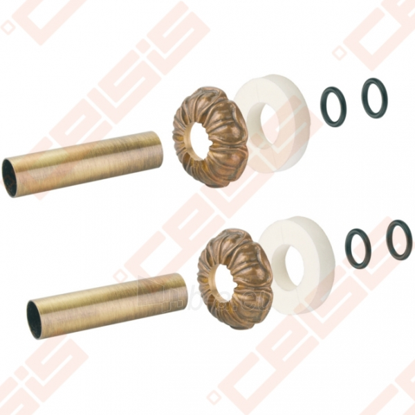Apdaila (spalva: bronza) dviem vamzdžiams (atstumas nesvarbus) CARLO POLETTI A670; 18 x 50; L=160mm Paveikslėlis 1 iš 2 270717000952