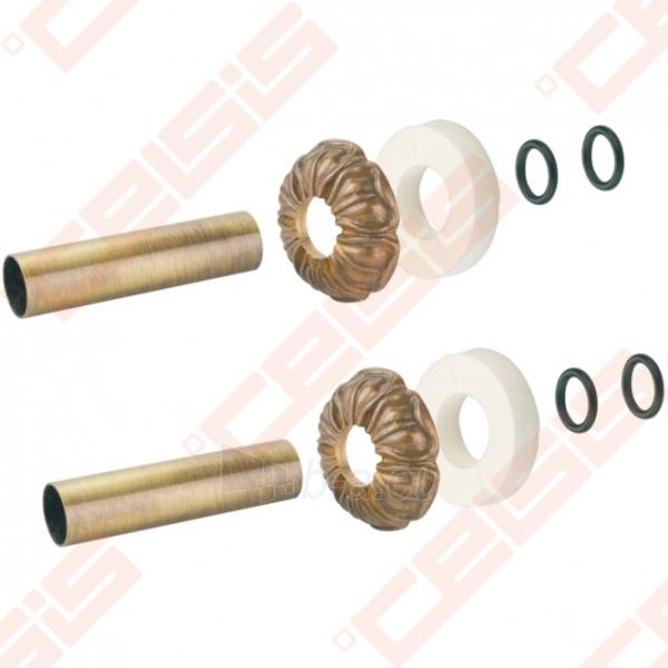 Apdaila (spalva: bronza) dviem vamzdžiams (atstumas nesvarbus) CARLO POLETTI A670; 25 x 50; L=160mm Paveikslėlis 2 iš 2 270717000953