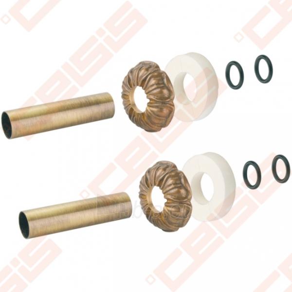 Apdaila (spalva: bronza) dviem vamzdžiams (atstumas nesvarbus) CARLO POLETTI A670; 25 x 50; L=160mm Paveikslėlis 1 iš 2 270717000953