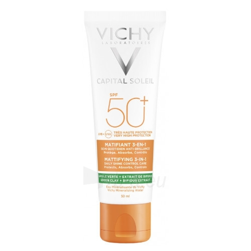 Apsauginis veido kremas Vichy 3v1 Capital Soleil SPF 50+ 50 ml Paveikslėlis 1 iš 1 310820220745