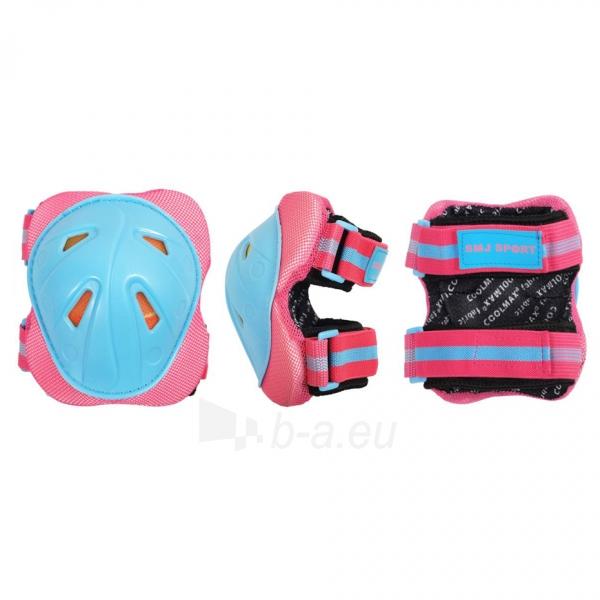 Apsaugų rinkinys SMJ CR-368 Girl blue-pink Paveikslėlis 3 iš 4 310820218718