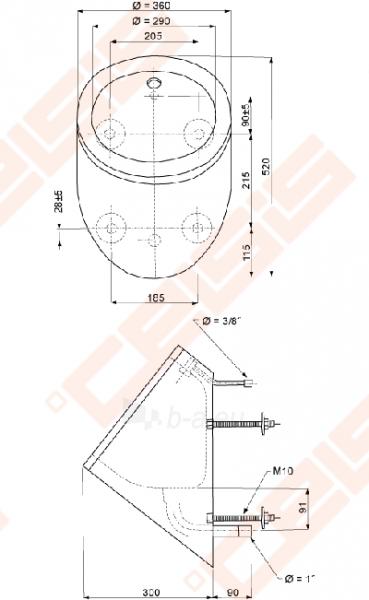 Apskirtas nerūdijančio plieno piararas SANELA, antivandalinis Paveikslėlis 2 iš 2 270713000742