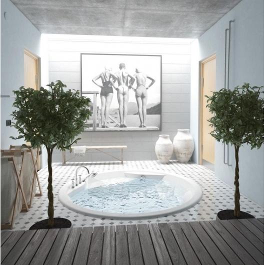 Apvali akrilinė vonia PAA RONDO Paveikslėlis 2 iš 8 310820126637