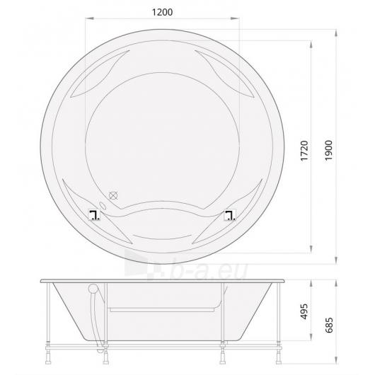 Apvali akrilinė vonia PAA RONDO Paveikslėlis 8 iš 8 310820126637