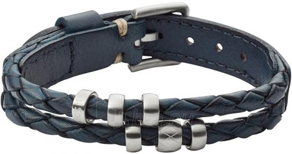 Apyrankė Fossil Dark blue leather bracelet JF02346040 Paveikslėlis 1 iš 2 310820125698