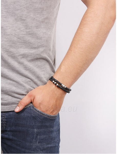 Apyrankė Fossil Dark blue leather bracelet JF02346040 Paveikslėlis 2 iš 2 310820125698