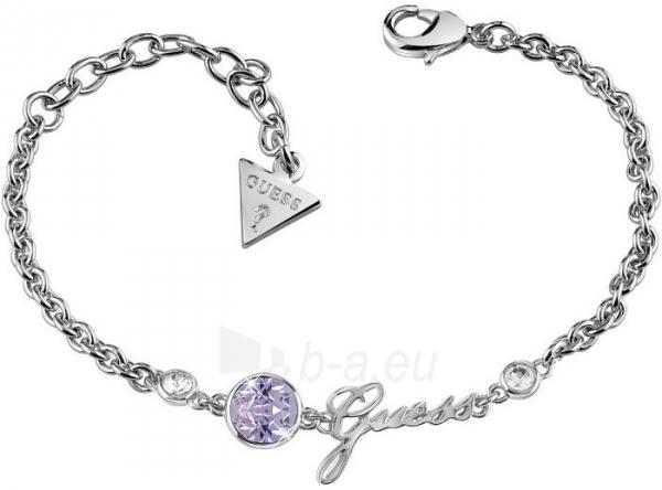 Apyrankė Guess Fashion bracelet with purple crystal and inscription UBB83026-S Paveikslėlis 1 iš 2 310820173254