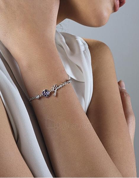 Apyrankė Guess Fashion bracelet with purple crystal and inscription UBB83026-S Paveikslėlis 2 iš 2 310820173254
