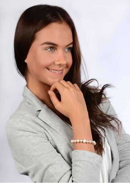Apyrankė JwL Luxury Pearls Bracelet made of genuine multi-colored pearls JL0364 Paveikslėlis 2 iš 3 310820126785