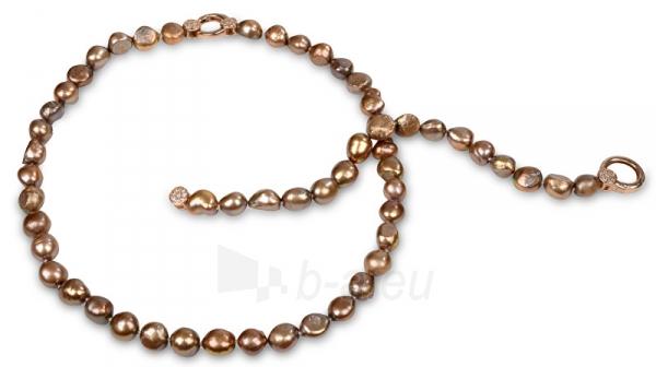 Apyrankė JwL Luxury Pearls Set necklace and bracelet made of real pearls tawny JL0163 Paveikslėlis 2 iš 5 310820126412