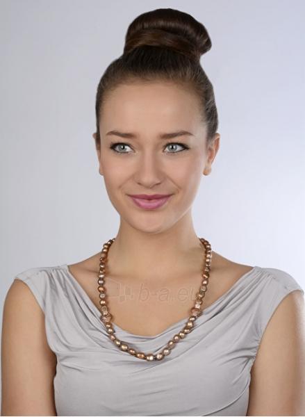 Apyrankė JwL Luxury Pearls Set necklace and bracelet made of real pearls tawny JL0163 Paveikslėlis 4 iš 5 310820126412
