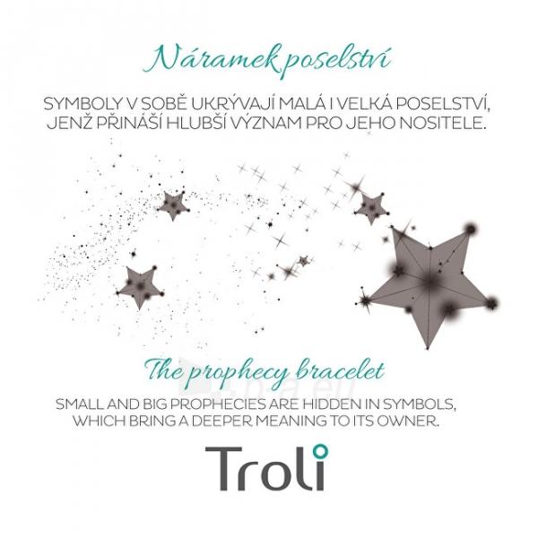 Apyrankė Troli Corded bracelet with feather white / gold Paveikslėlis 2 iš 4 310820203594