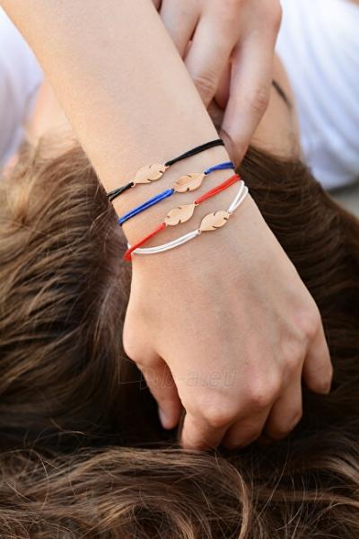 Apyrankė Troli Corded bracelet with feather white / gold Paveikslėlis 4 iš 4 310820203594
