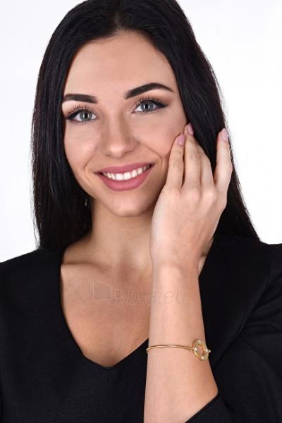 Apyrankė Troli Pink gilded steel bracelet with crystals Paveikslėlis 2 iš 3 310820203442