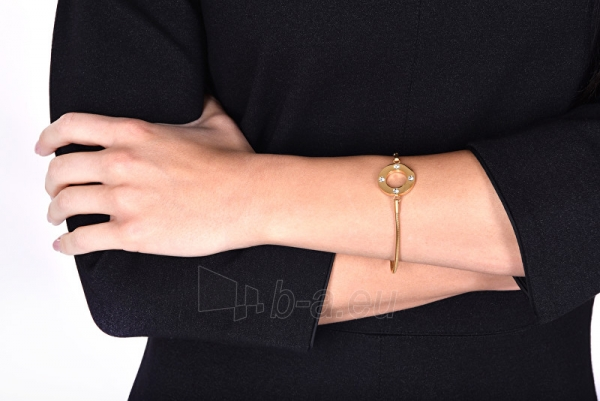 Apyrankė Troli Pink gilded steel bracelet with crystals Paveikslėlis 3 iš 3 310820203442