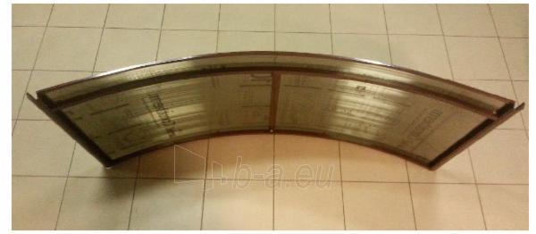 Arkinis durų stogelis RODEO 150x70x20 cm. Rudas rėmas. Paveikslėlis 3 iš 4 310820044075