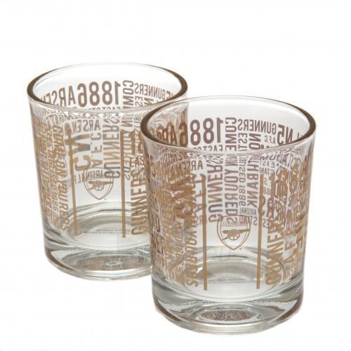 Arsenal F.C. dviejų viskio stiklinių rinkinys (TX) Paveikslėlis 1 iš 4 310820042224