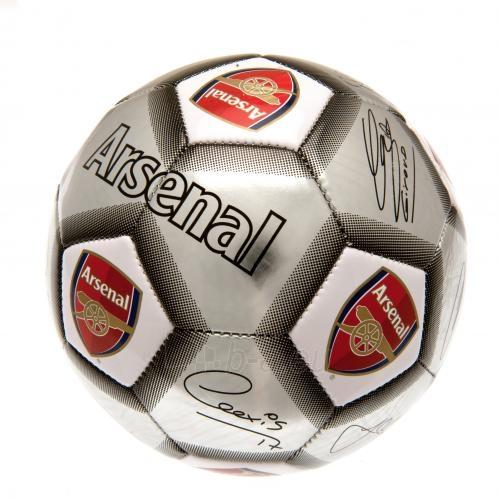 Arsenal F.C. futbolo kamuolys (Autografai. Pilkas) Paveikslėlis 1 iš 4 310820042386