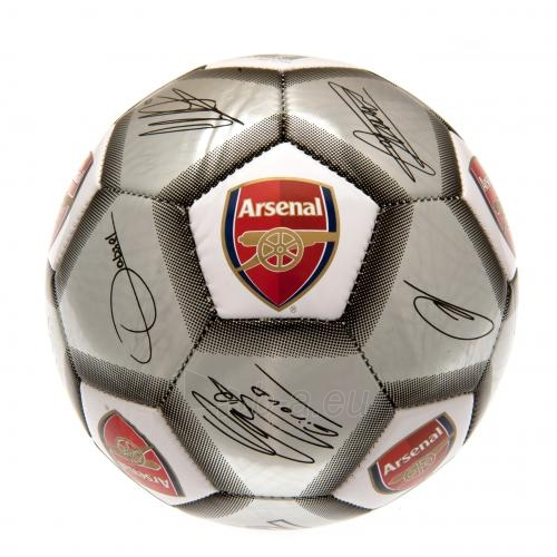Arsenal F.C. futbolo kamuolys (Autografai. Pilkas) Paveikslėlis 4 iš 4 310820042386