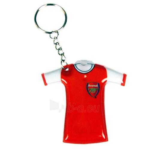 Arsenal F.C. marškinėlių formos raktų pakabukas - žibintuvėlis Paveikslėlis 1 iš 2 251009000134