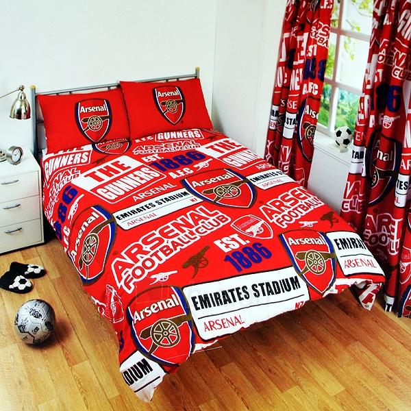 Arsenal F.C. patalynės komplektas (Raudonas-logotipai) Paveikslėlis 1 iš 2 251009001043