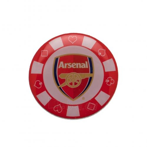 Arsenal F.C. prisegamas ženklelis - pokerio žetonas Paveikslėlis 1 iš 3 310820042423