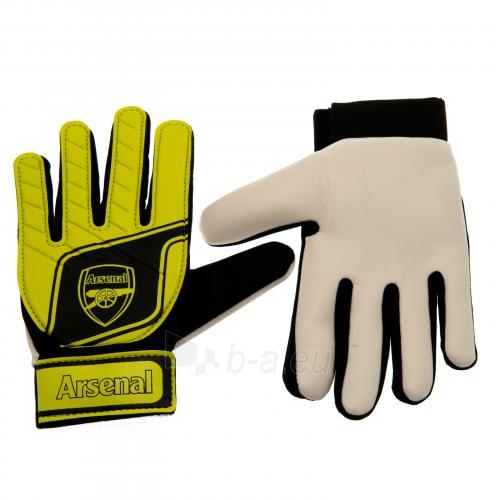 Arsenal F.C. vaikiškos vartininko pirštinės (Geltonos) Paveikslėlis 1 iš 4 251009001048
