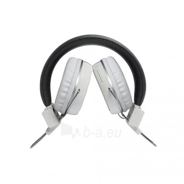 ART Ausinės su mikrofonu Bluetooth AP-B02-W baltos (TOUCH) Paveikslėlis 2 iš 5 250255091024