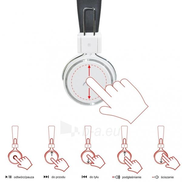 ART Ausinės su mikrofonu Bluetooth AP-B02-W baltos (TOUCH) Paveikslėlis 4 iš 5 250255091024