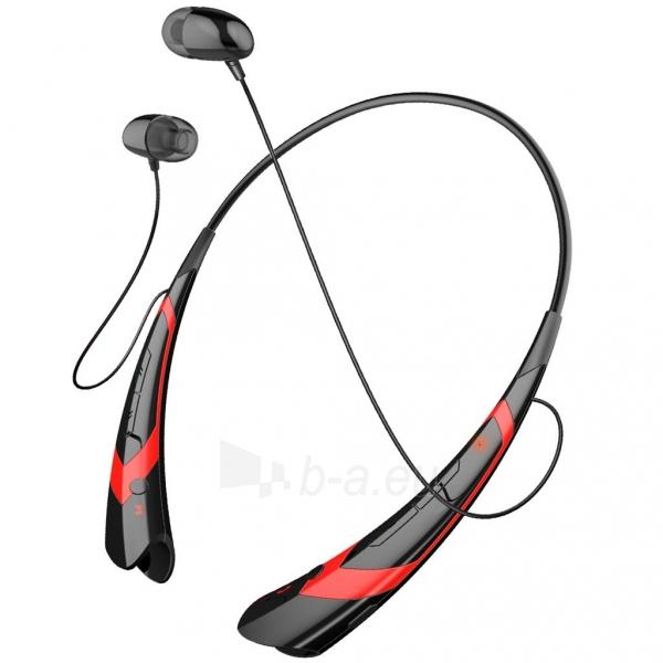 ART Ausinės su mikrofonu Bluetooth AP-B21 juodos/raudonos (RING) sport Paveikslėlis 1 iš 4 250255091025
