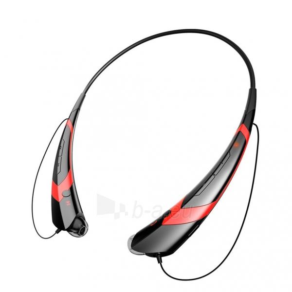ART Ausinės su mikrofonu Bluetooth AP-B21 juodos/raudonos (RING) sport Paveikslėlis 2 iš 4 250255091025