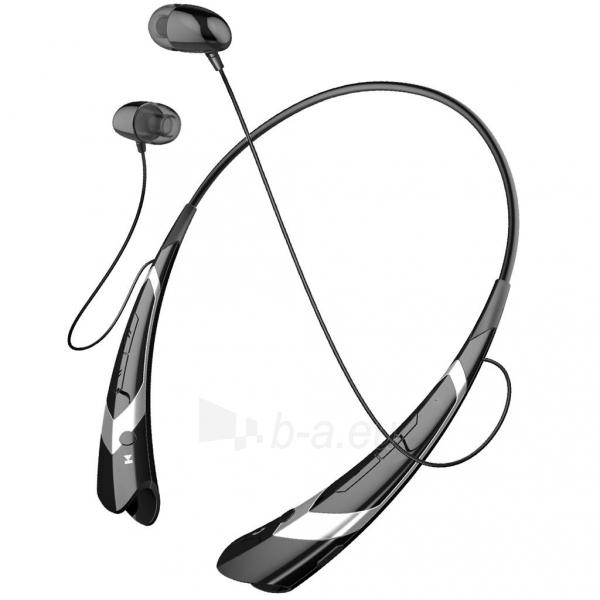 ART Ausinės su mikrofonu Bluetooth AP-B21-S juodos/silver (RING) sport Paveikslėlis 1 iš 4 250255091026