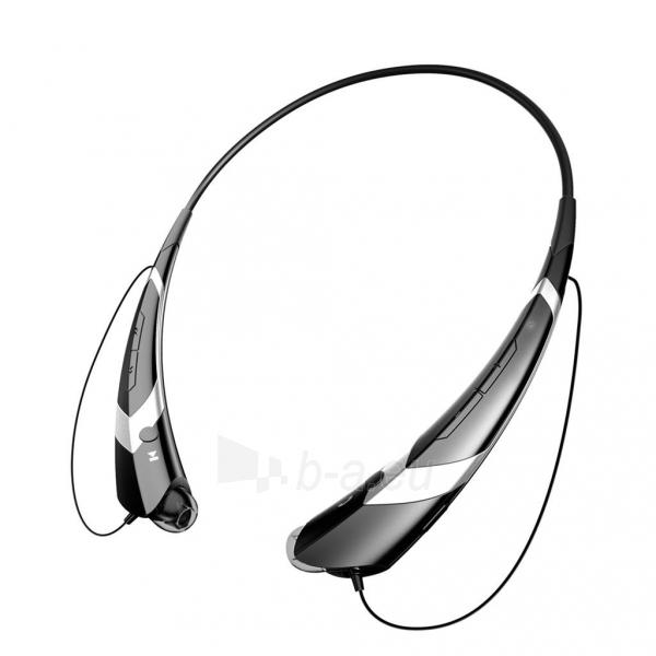 ART Ausinės su mikrofonu Bluetooth AP-B21-S juodos/silver (RING) sport Paveikslėlis 2 iš 4 250255091026