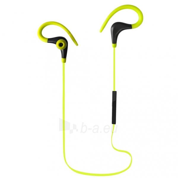 ART Bluetooth ausinės su mikrofonu AP-BX61 lime sport (EARHOOK) Paveikslėlis 2 iš 3 310820026721