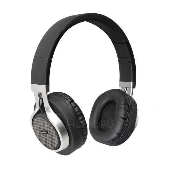 ART Bluetooth Headphones with microphone AP-B04 black/silver Paveikslėlis 1 iš 6 250255091341