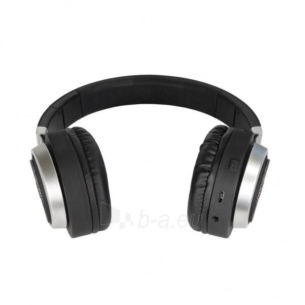 ART Bluetooth Headphones with microphone AP-B04 black/silver Paveikslėlis 2 iš 6 250255091341