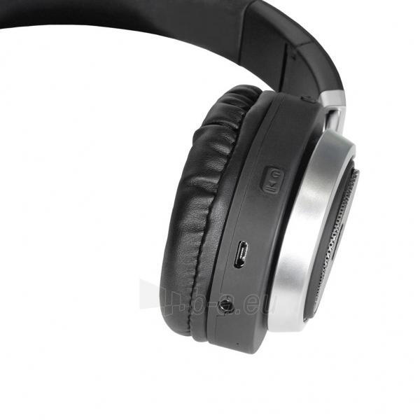 ART Bluetooth Headphones with microphone AP-B04 black/silver Paveikslėlis 3 iš 6 250255091341