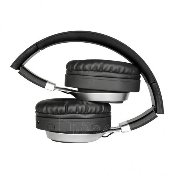 ART Bluetooth Headphones with microphone AP-B04 black/silver Paveikslėlis 4 iš 6 250255091341